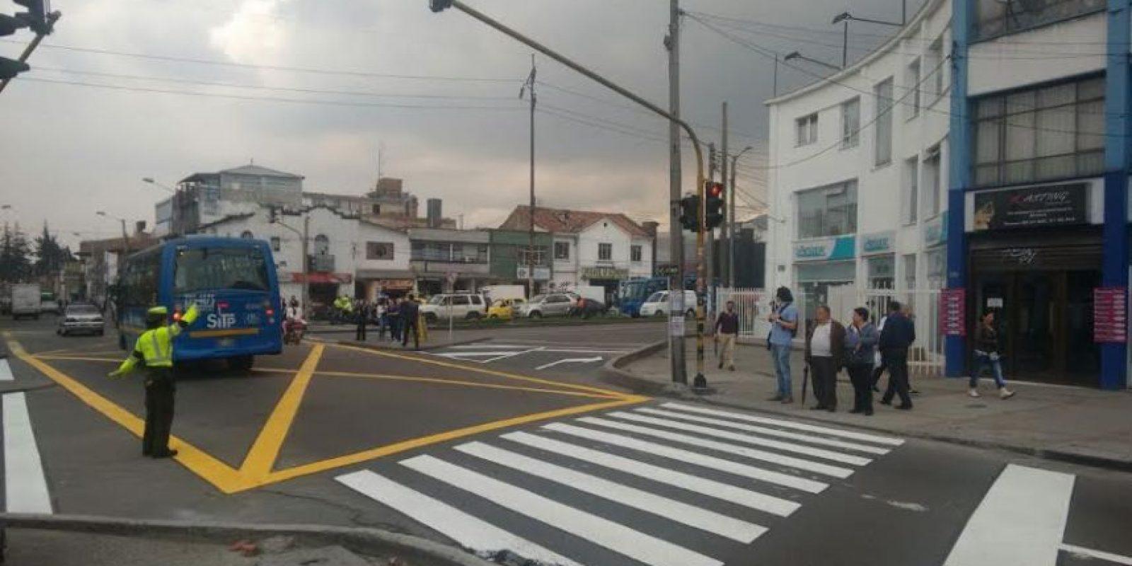 Después de la intervención de la Secretaría de Movilidad el cruce quedó como se puede ver en la imagen. Foto:Cortesía Secretaría de Movilidad