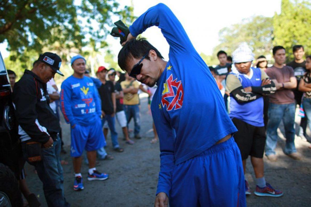 Manny Pacquiao: El boxeador también realizó campaña al congreso y se declaró en contra del matrimonio entre parejas del mismo sexo Foto:Getty Images