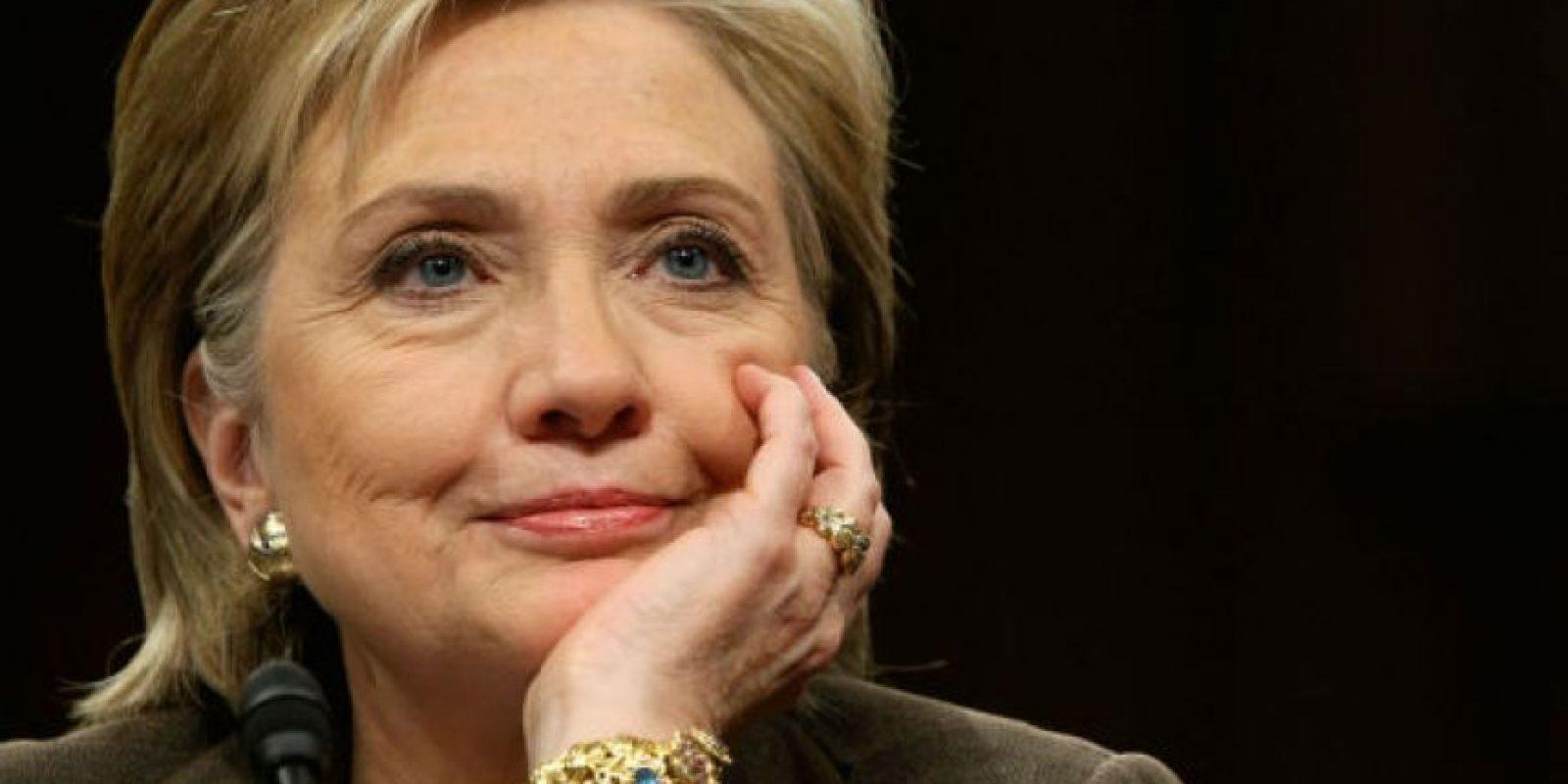 Hillary Clinton, exprimera dama y Secretaria de Estado demócrata de 63 años Foto:Getty Images