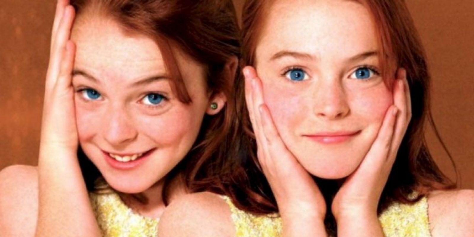 Hallie y Annie eran interpretadas por Lindsay Lohan. Foto:vía Disney