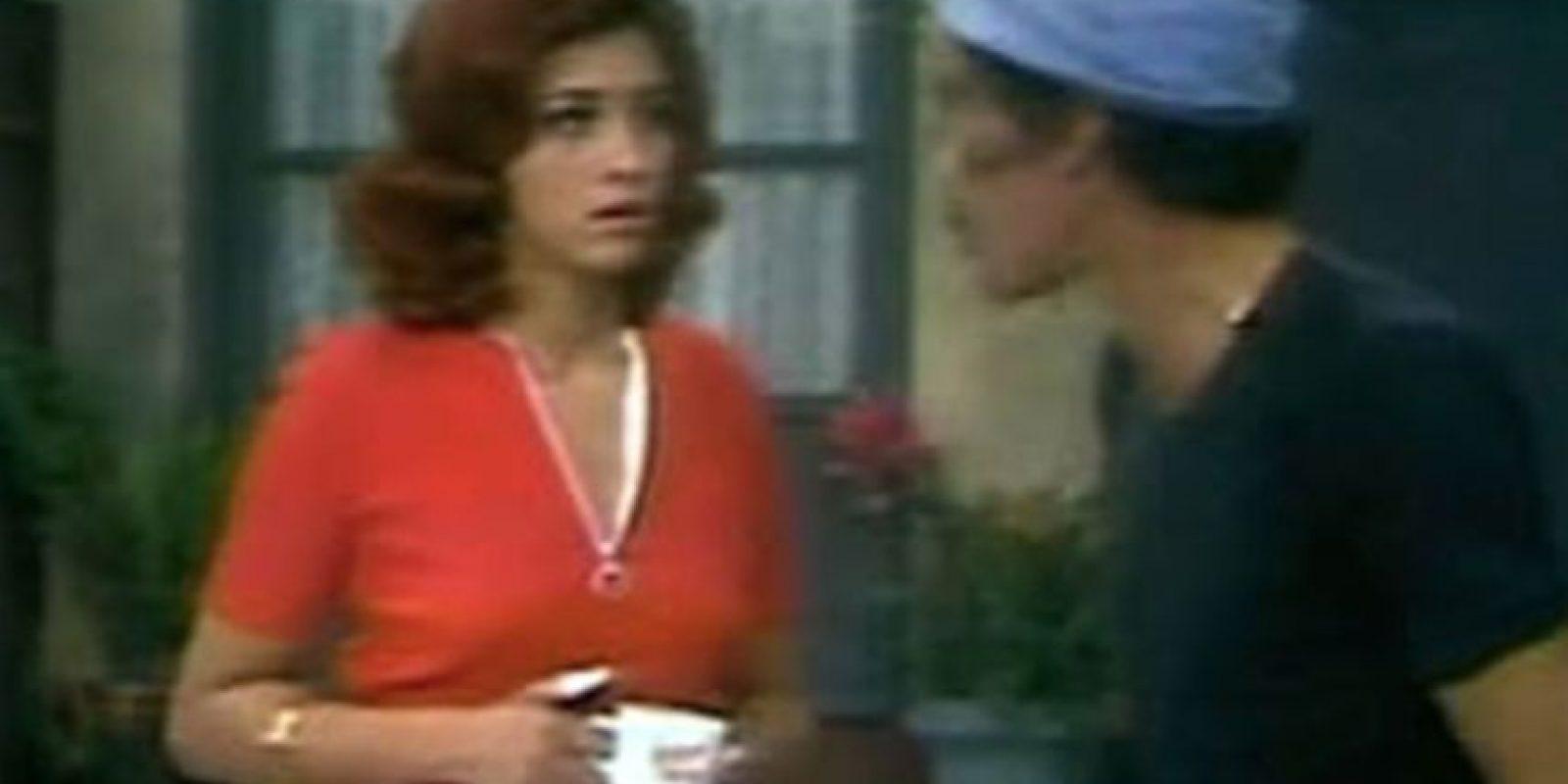 """En 1972 Maribel Fernández (La Pelangocha) interpretó a """"Gloria"""" en """"El Chavo"""" Foto:Vía Youtube"""