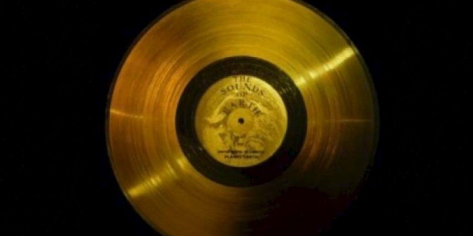 2. El disco de oro de las Voyager Foto:Wikipedia.org