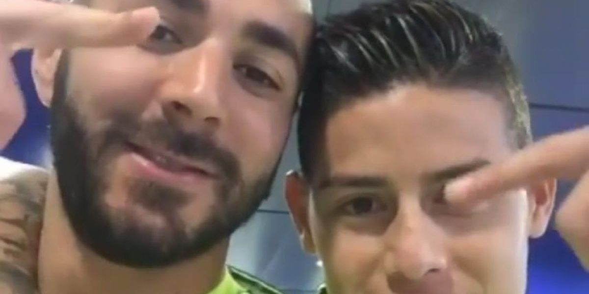 James y Benzema ponen el sabor en el camerino de Real Madrid