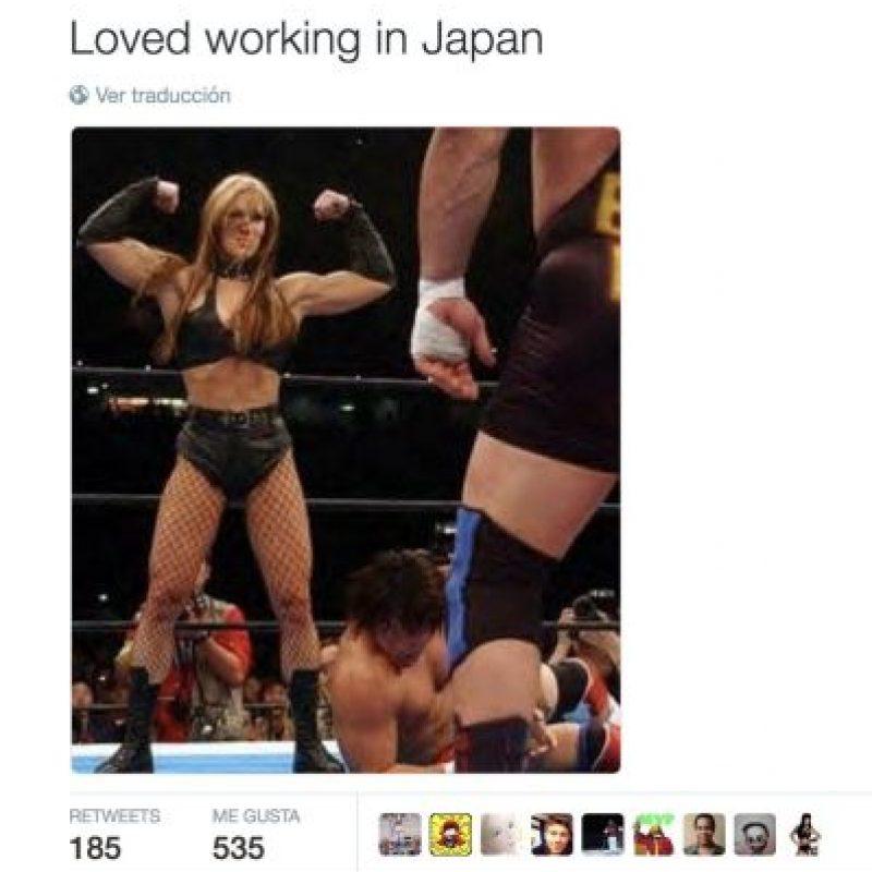 """Me encantó trabajar en Japón"" Foto:Twitter.com/ChynaJoanLaurer"