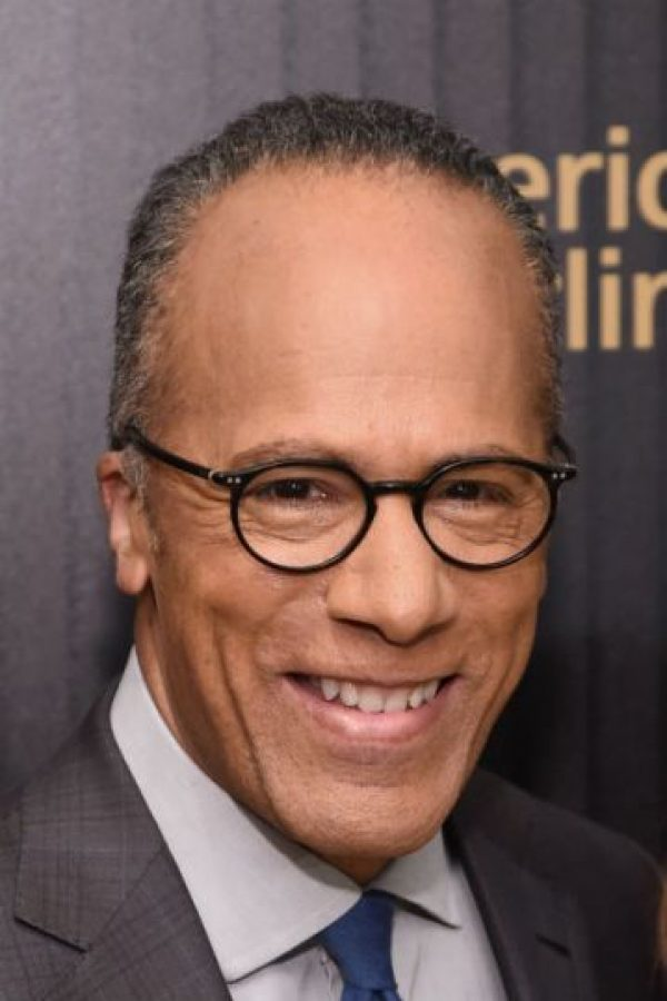 Lester Holt. Periodista estadounidense de la cadena NBC. Foto:Getty Images