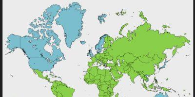 Este es un mapa del sistema operativo móvil para ingresar a Pornhub por región. Foto:Pornhub