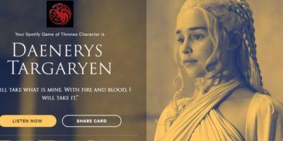 Personaje: Daenerys Targaryen. Foto:Spotify