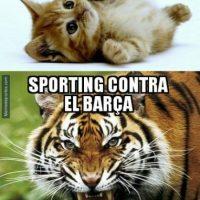Barcelona hizo lo propio ante Sporting de Gijón. Foto:memedeportes.com