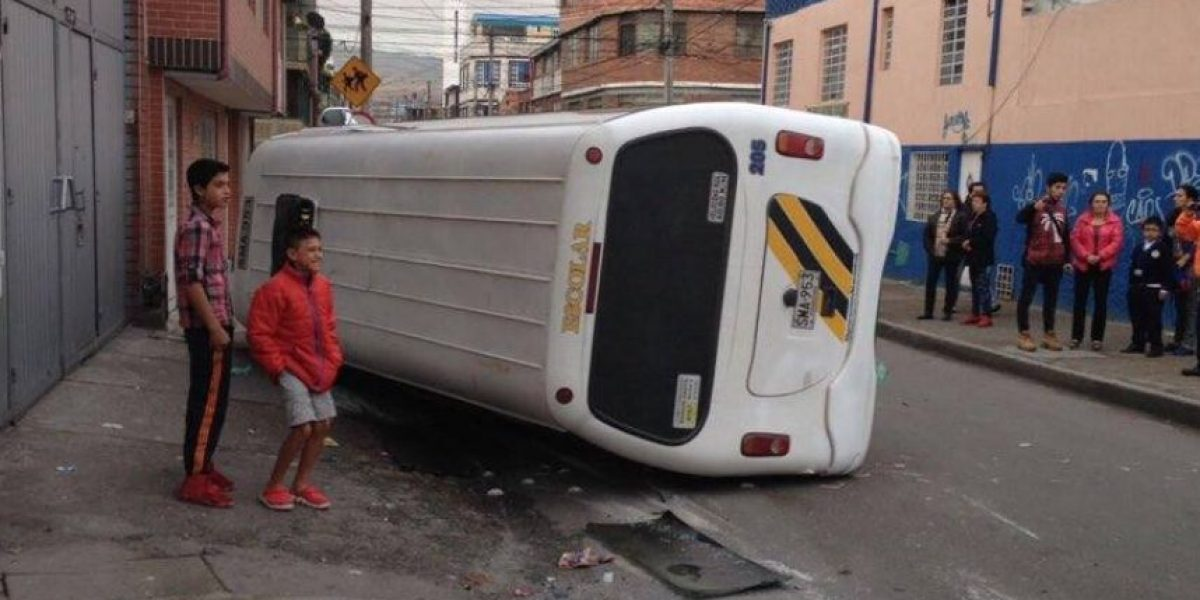 ¡Atención! Accidente de ruta escolar en el sur de Bogotá