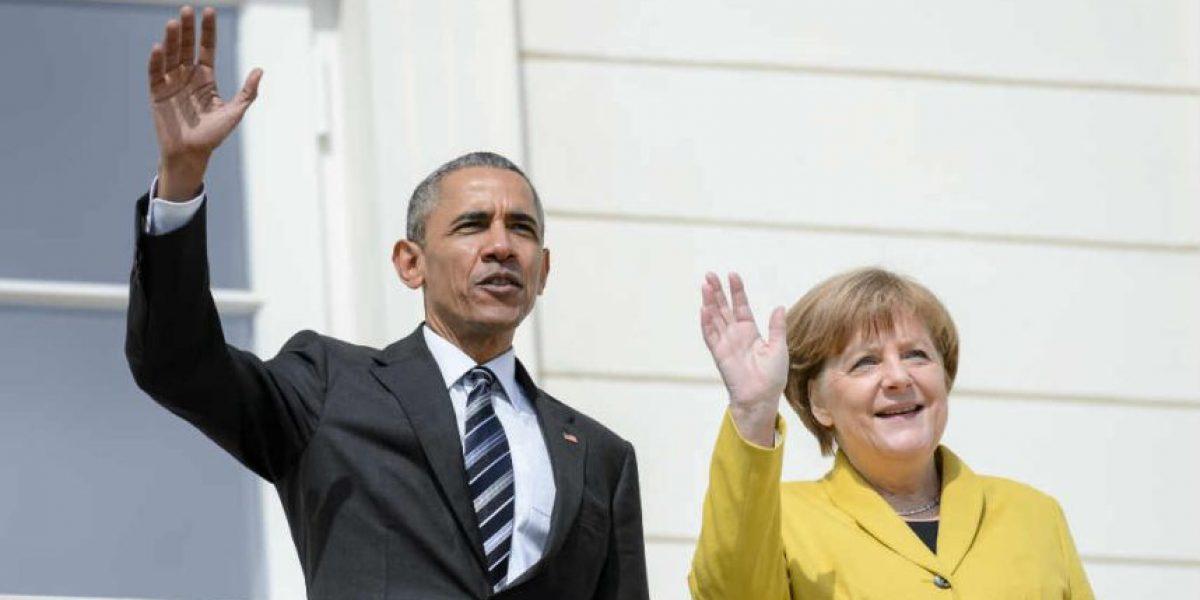 Fotos: así lucen Obama y Merkel con lentes VR de ojos saltones