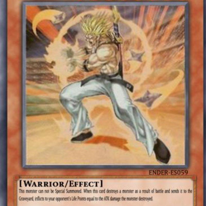 """La carta de Yu-Gi-Oh! llamada """"Tyler el Guerrero"""" se inspiró en Trunks del futuro. Foto:Tumblr"""