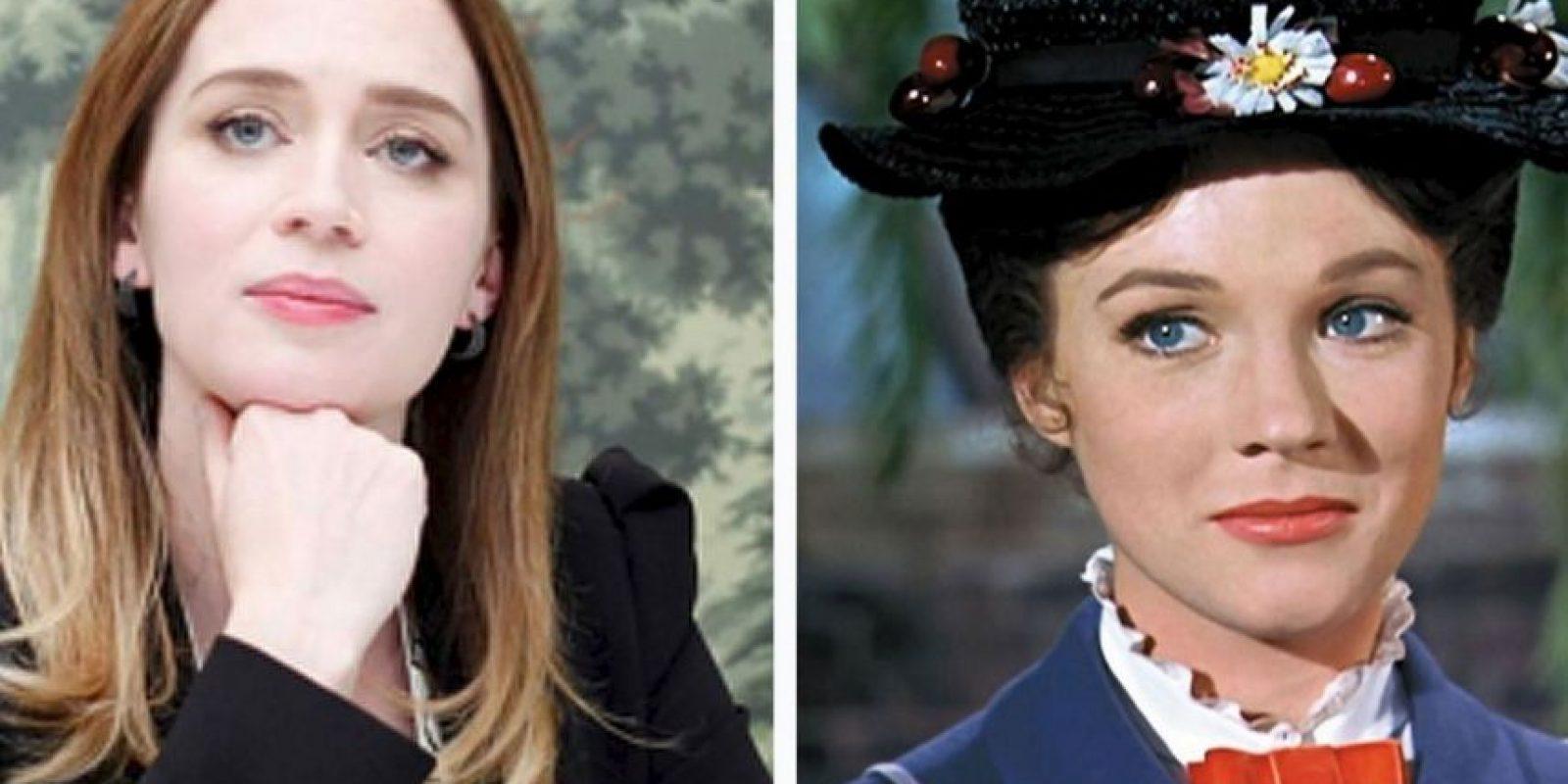 Mary Poppins será interpretada por Emily Blunt Foto:Getty Images/Disney