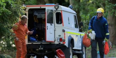 Joe Pugh, de 18 años, y Leah Washington, de 17, fueron dos de las cuatro personas que sufrieron heridas graves en las piernas en la atracción The Smiler del parque Alton Towers, en Staffordshire en junio pasado. Era su primera cita Foto:Getty Images