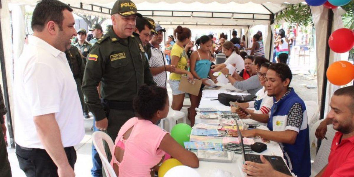 Comando de la Policía se traslada a los barrios de Barranquilla