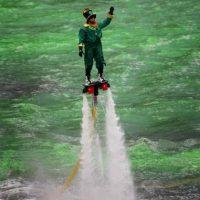 Las tablas voladoras son impulsadas por jets. Foto:Getty Images