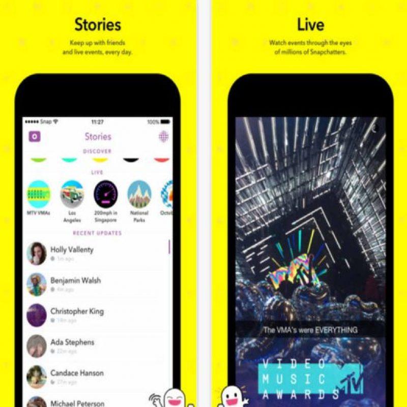 Incluso por encima de Instagram, Facebook y Twitter. Foto:Snapchat