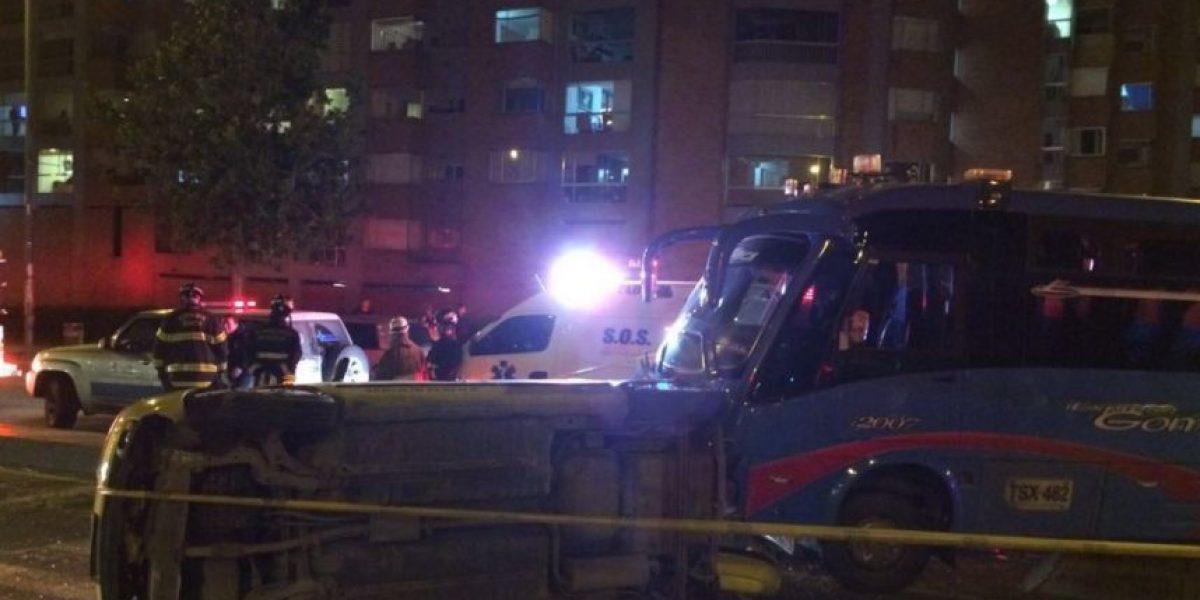 Dos heridos y caos vial por accidente de tránsito en la Avenida Boyacá