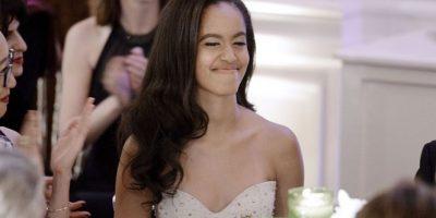 2016. Así lució en su primera cena de gala en la Casa Blanca Foto:Getty Images