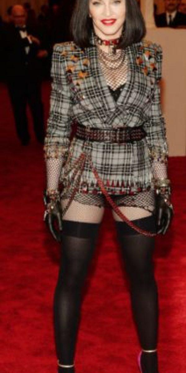 Madonna en su statement punk.Too much. Foto:vía Getty Images