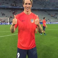 Fernando Torres también celebró sobre el césped. Foto:Vía twitter.com/Atleti
