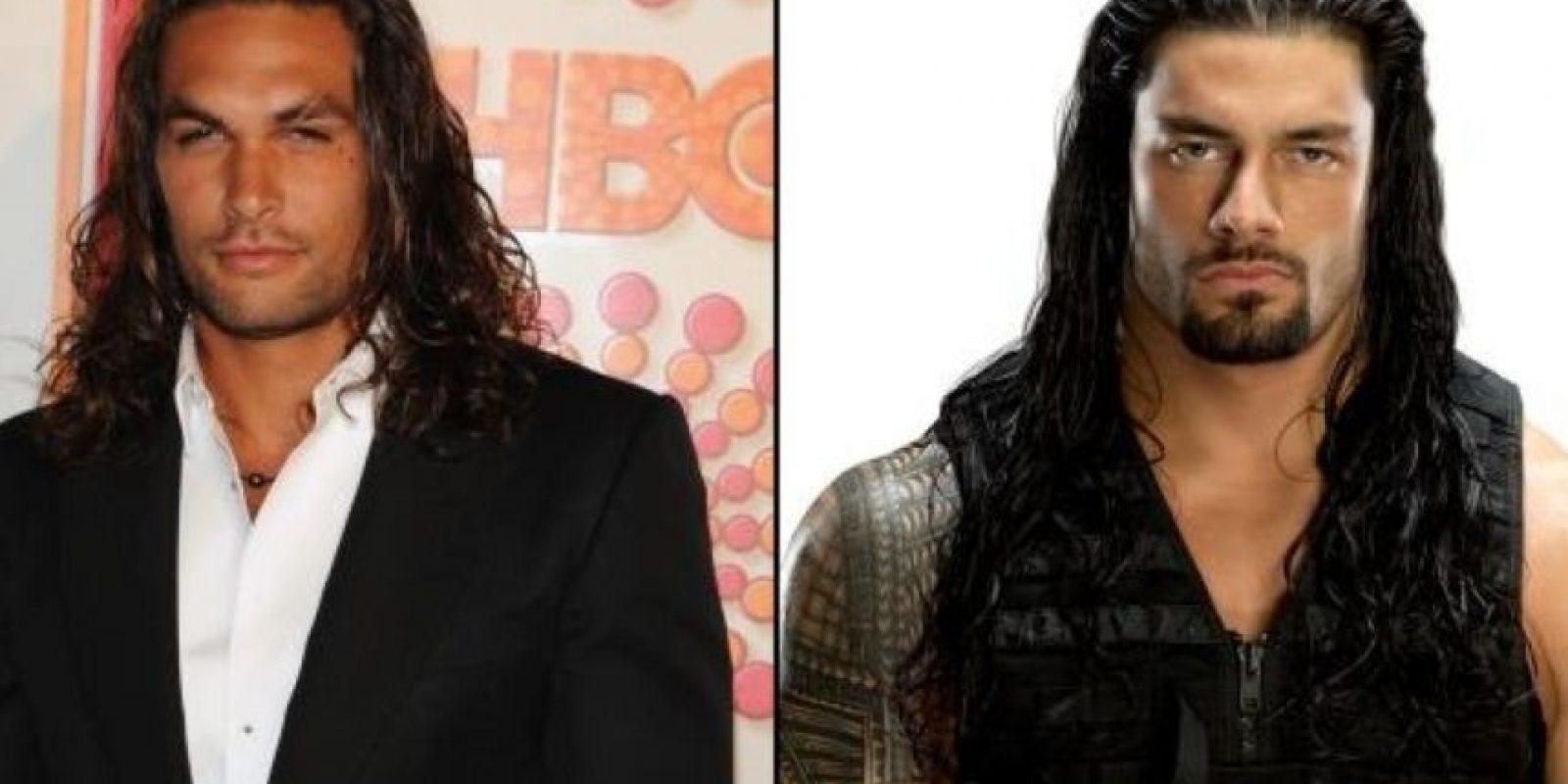 Jason Momoa y Roman Reigns Foto:Getty Images
