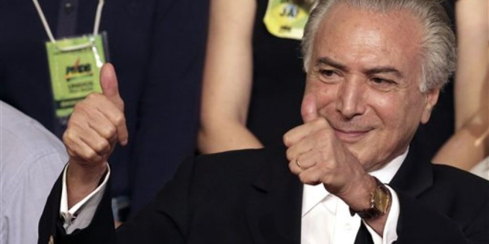 En su lugar quedaría el vicepresidente Michel Temer Foto:AP