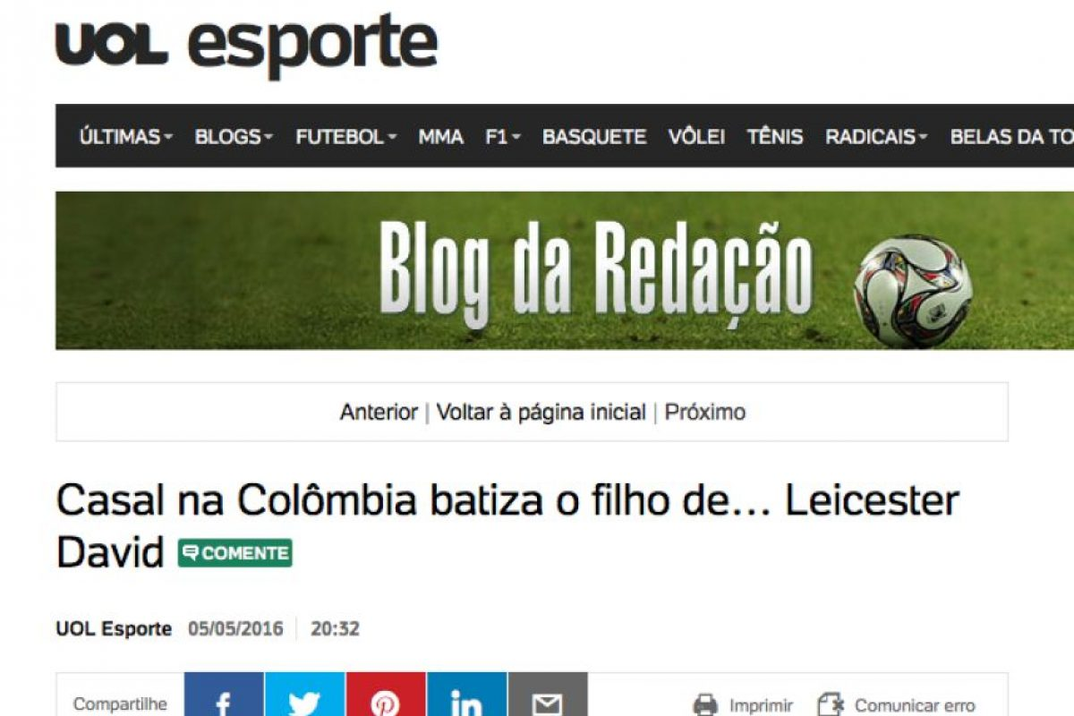 Foto:Captura de pnatalla UOL de Brasil