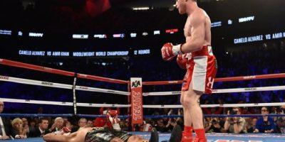 Que estaba junto al cuadrilátero, para que subiera al ring a pelear Foto:Getty Images