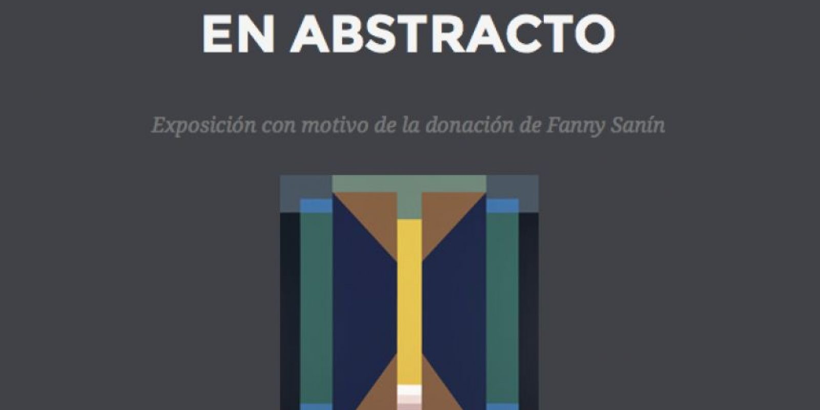 Foto:Museo Nacional 'En abstracto'
