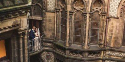 Imágenes de la Boda al estilo Harry Potter Foto:Via Kelly Clarke