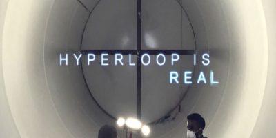 """""""Hyperloop es real"""" Foto:Hyperloop"""