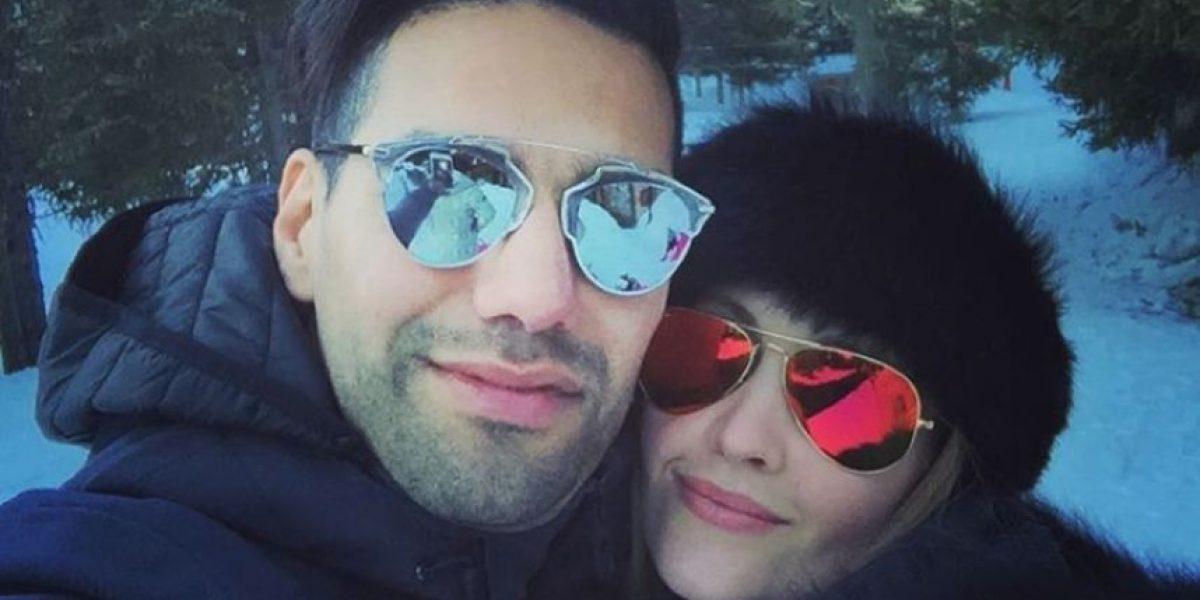 Esposa de Falcao García se despide de Londres