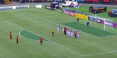 Así fue la barrera que enfrentó el chileno Mark González Foto:Twitter
