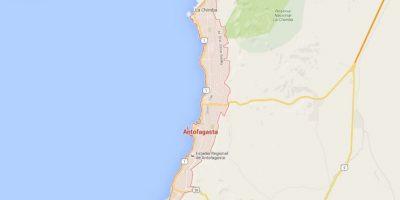 La cual está ubicada al norte de Chile y tienen una población a los 390 mil habitantes. Foto:Google Maps