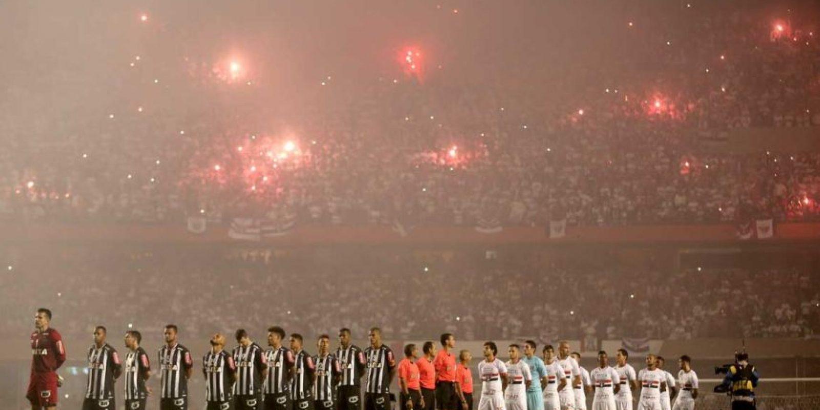 Entre Sao Paulo y Atlético Mineiro. Foto:Getty Images