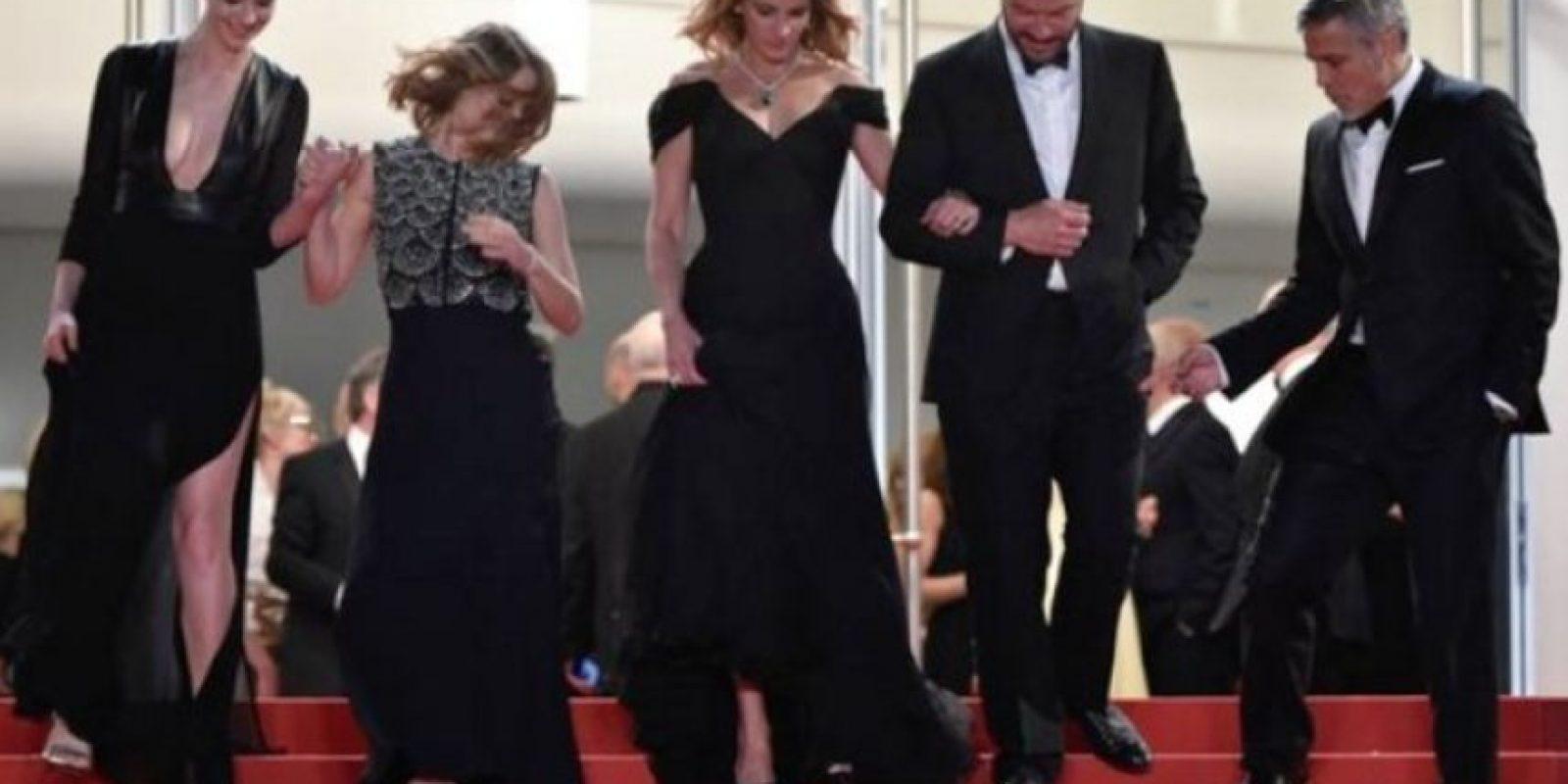 Así lucía Julia Roberts en la alfombra roja de Cannes Foto:Getty Images