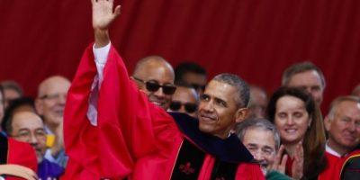 El presidente Barack Obama se presento a dar un discurso de clausura en la Universidad Rutger. Foto:AFP
