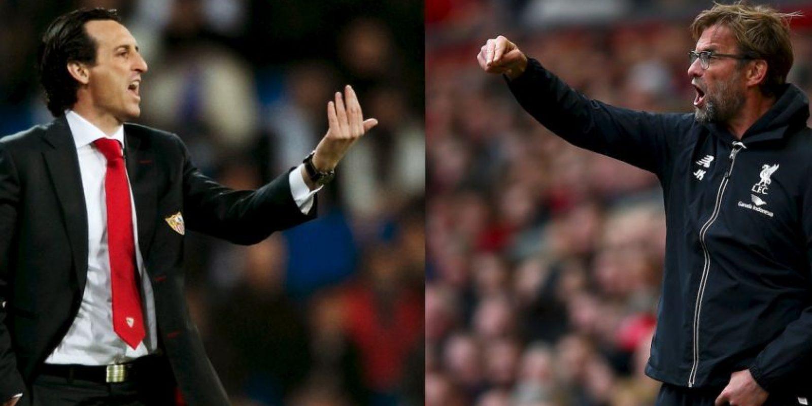 En las bancas se enfrentarán Unai Emery ante Jürgen Klopp Foto:Getty Images