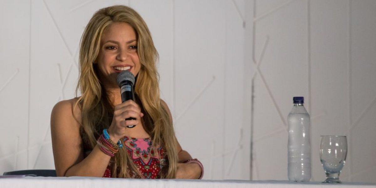 EN FOTOS: así fue la rueda de prensa que Shakira ofreció en Barranquilla