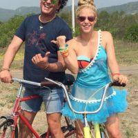 En la grabación de 'La Bicicleta' Foto:Instagram Shakira