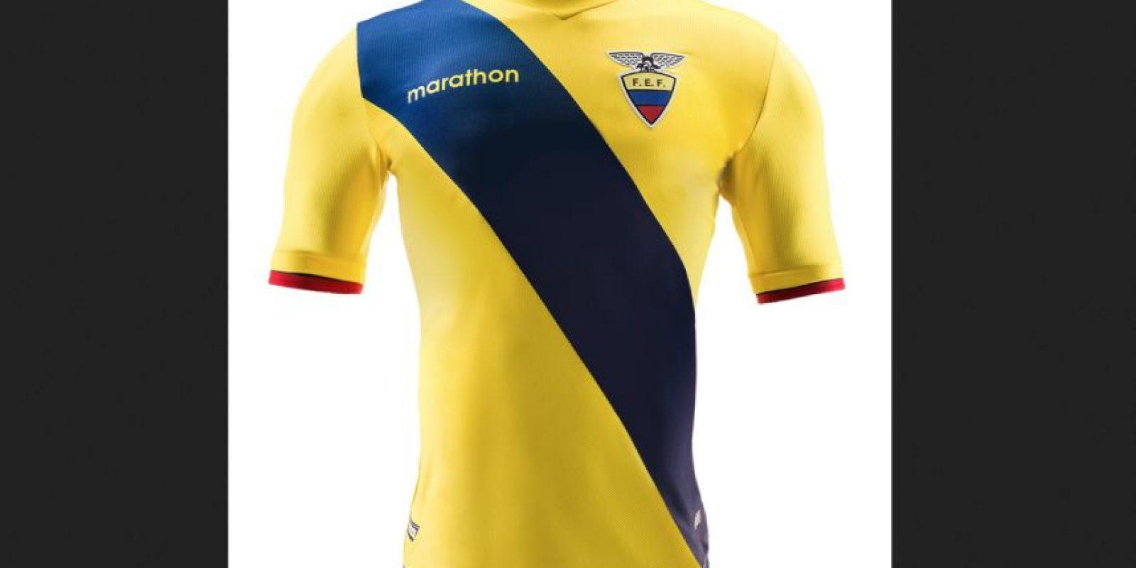 Foto:Tomado de https://marathon-sports.com/personaliza-tu-camiseta/3031/camiseta-oficial-ecuador-copa-centenario-detail.html