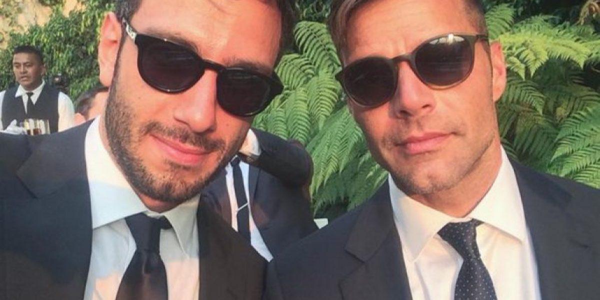 Ricky Martin y su novio en el baño...