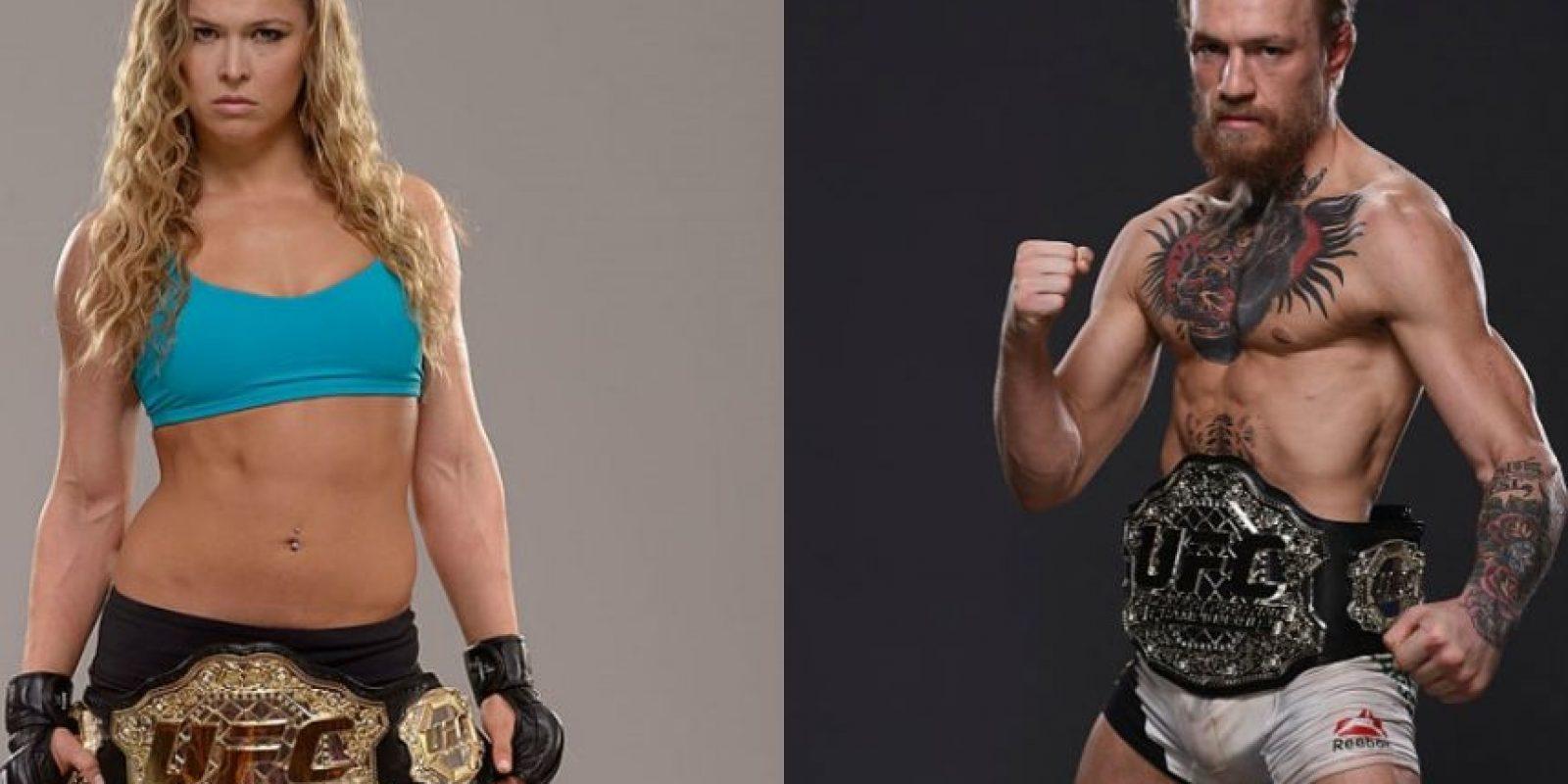 Ronda Rousey y Conor McGregor son los luchadores más famosos de la UFC. Foto:Getty Images