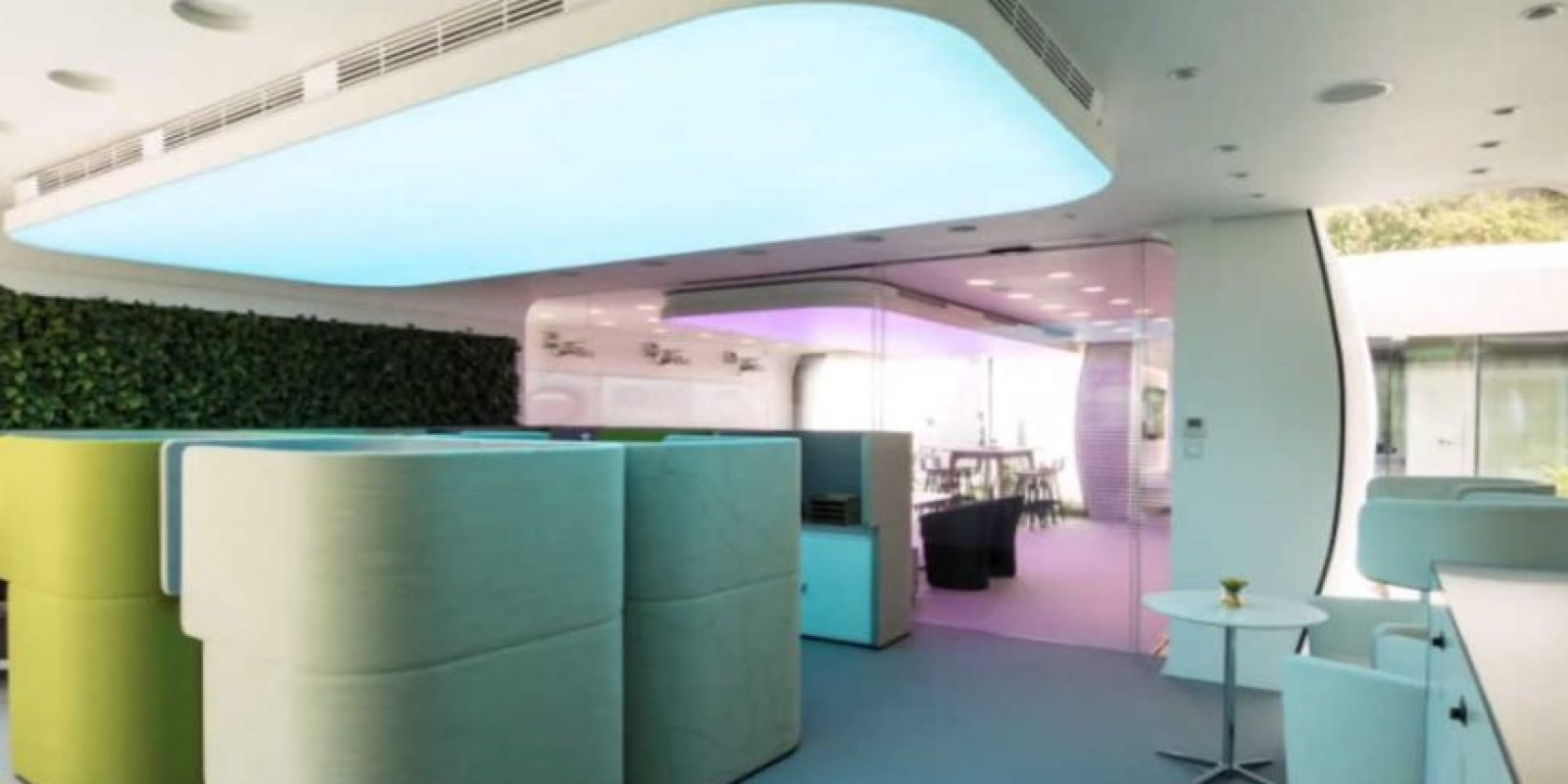 Así son por dentro las primeras oficinas impresas en 3D. Foto:YouTube/Dubai Future Foundation – UAE
