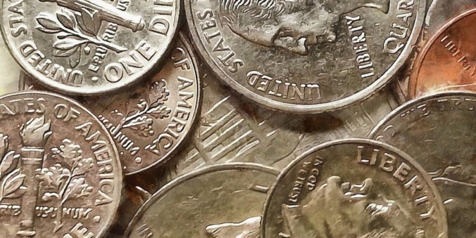 Hay cinco tipos de monedas, en ellas aparecen los presidentes Abraham Lincoln, Thomas Jefferson, Franklin D. Roosevelt, George Washington y John F. Kennedy. Foto: stock-free.org