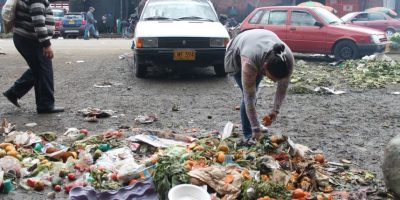 Tomates, zanahoría, lechuga y cualquier alimento que sobreviva en los contendores sirve. Foto:Sofía Toscano- Publimetro