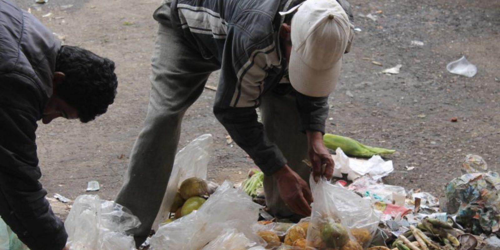Cualquier bolsa es buena para recoger los alimentos Foto:Sofía Toscano-Publimetro
