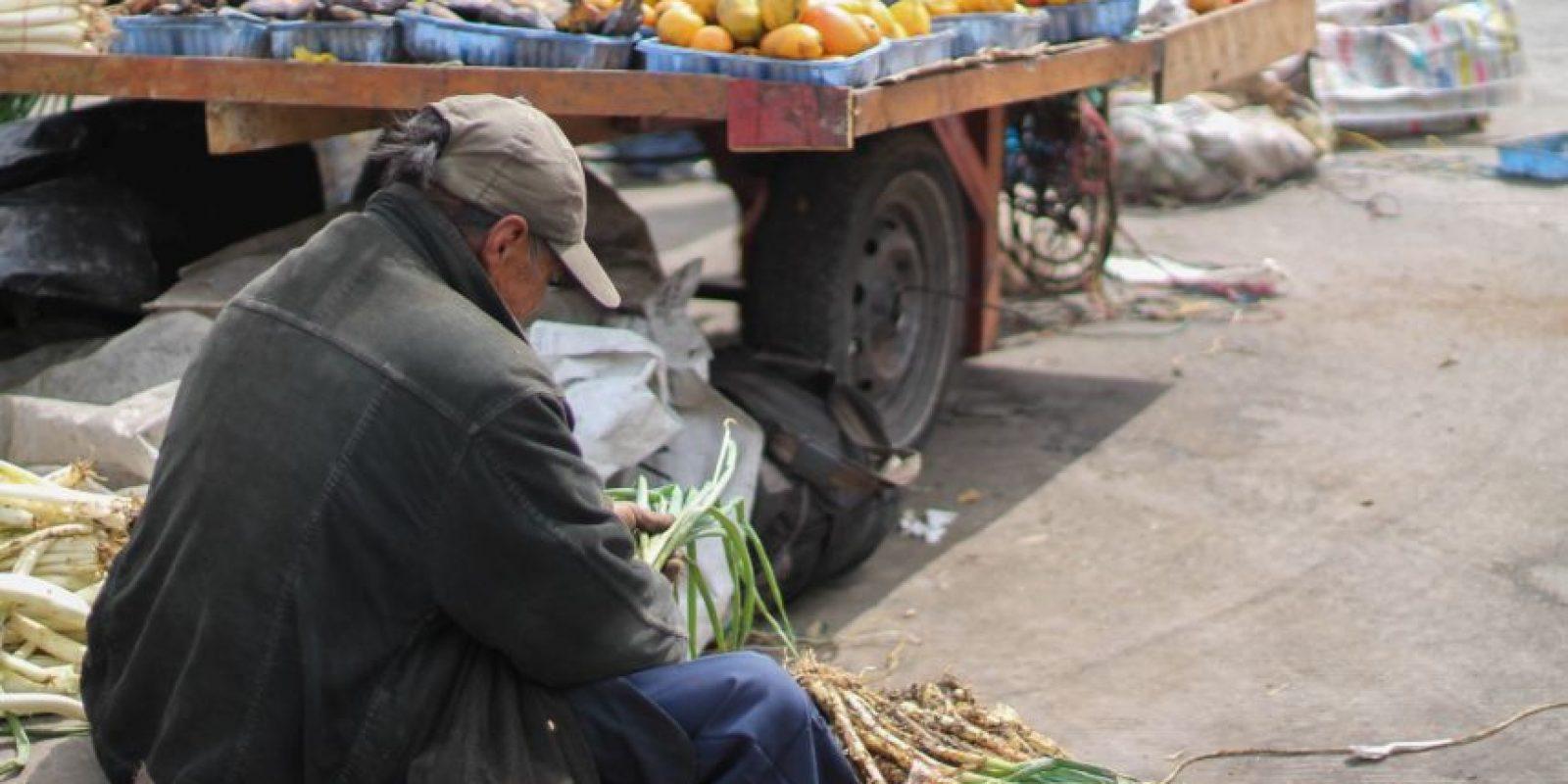 Cualquier lugar es bueno para hacer la selección de comida. Foto:Sofía Toscano-Publimetro