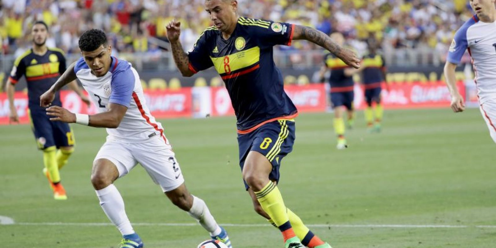 Los cafetaleros vencieron por 2 a 0 a Estados Unidos en el primer partido de la Copa América Centenario y se ilusionan con un segundo triunfo para quedar a un paso de la clasificación Foto:Getty Images