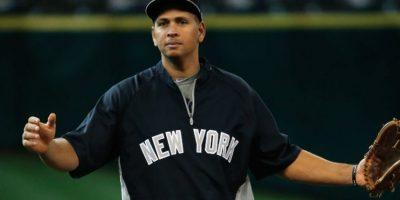 Alex Rodríguez. El beisbolista dominicano fue suspendido por 162 partidos por la MLB al encontrarlo implicado en un caso de dopaje, por lo que se perderá toda la temporada de 2014. Foto:Getty Images